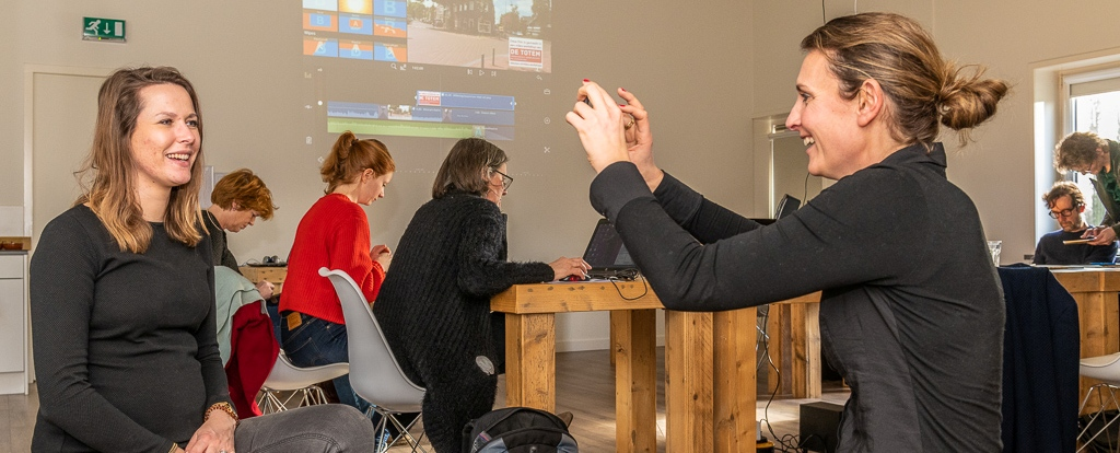 Samen voor De Bilt - Workshop OneMinuteVideo door Communicatiebureau De Totem (© Hans Lebbe, HLP Images)