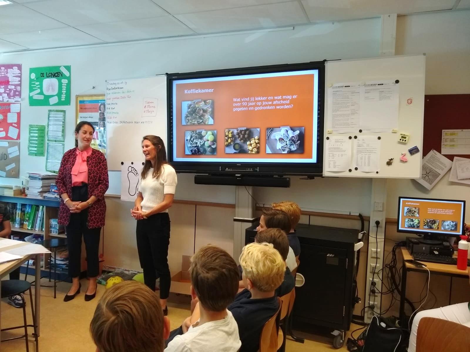 Tap DELA verzorgde een gastles over Afscheid aan groep 8 van de Julianaschool.