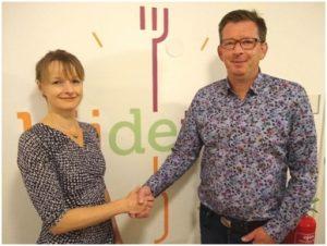 Ed Bandsma, Restaurant Bij de Tijd en maatschappelijke partner van Samen voor De Bilt, en Judith Boezewinkel, Samen voor De Bilt.